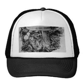 Forest Elf Fantasy Grey B/W Drawing Art Trucker Hat