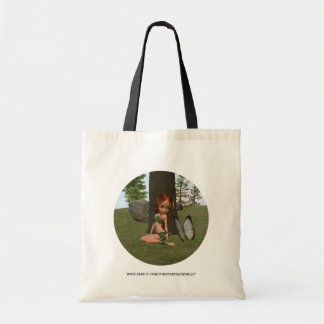 Forest Elf Girl and Butterfly Tote Bag