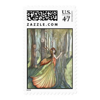 Forest Enchantment Fairy Art Postage