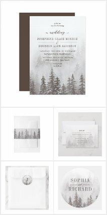 Forest Evergreens Misty Mountains Wedding
