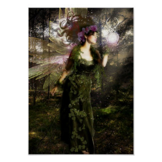 Forest Faerie Poster
