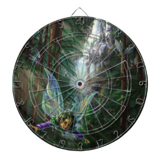 Forest Faires and Waterfall Castle Dartboard With Darts