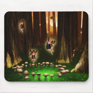 Forest fairy circle mouspad mouse pad