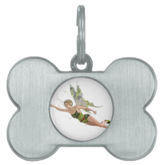 Forest Fairy Flying to the Right Pet Tag