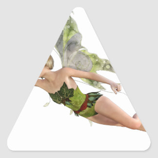 Forest Fairy Flying to the Right Triangle Sticker