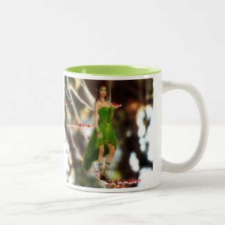 Forest fairy in green mug