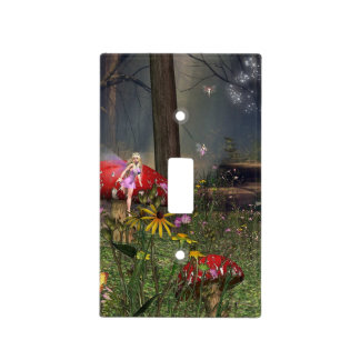 Forest fairy light switch cover