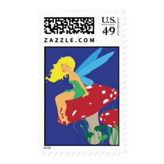 Forest Fairy Postage Stamps