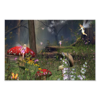 Forest fairy print photo