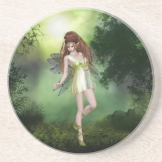 Forest Fairy Red Head Coaster