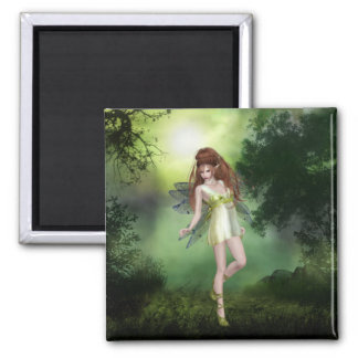 Forest Fairy Red Head Magnet