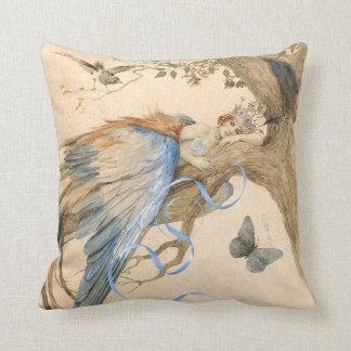 Forest Fairy Throw Pillow