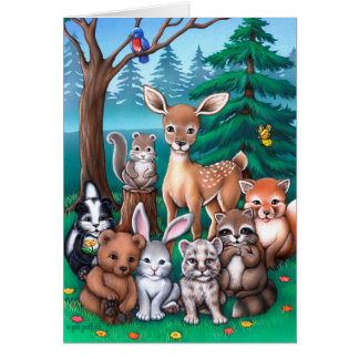 Forest Family Card