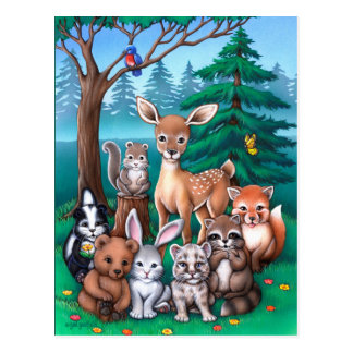 Forest Family Postcard