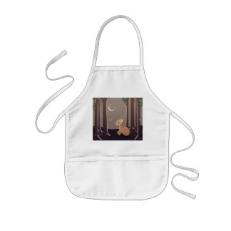 Forest Fawn With Fireflies And Moon Art Kids' Apron