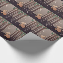 Forest Fawn With Fireflies And Moon Art Wrapping Paper