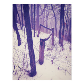 Forest Fence Poster
