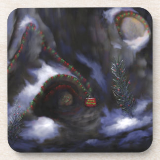 Forest Festivities Drink Coasters