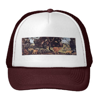 Forest Fire By Piero Di Cosimo (Best Quality) Trucker Hat