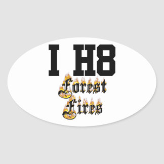 forest fires oval sticker