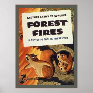 Forest Fires ~ Vintage WW2 Poster