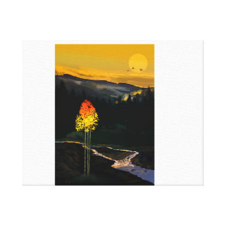 Forest Flame Wrapped Canvas Art by J Griff Griffin Canvas Print