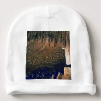 Forest floating on water reservoir baby beanie