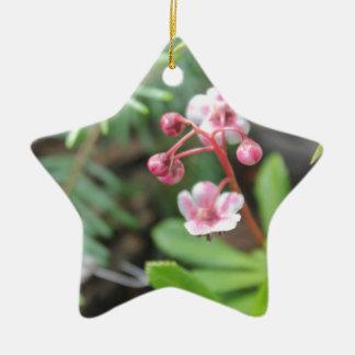 Forest Floor Flower Ceramic Ornament