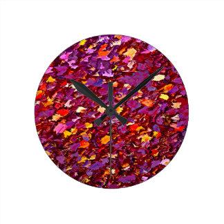 Forest Floor in Autumn Round Clock