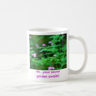 Forest Flowers, Ah...your secret garden awaits! Coffee Mug