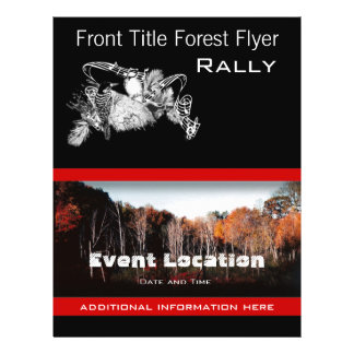 Forest Flyer or Bird Event Business Flyer