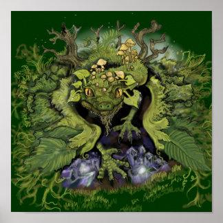Forest Foliage~Dragon Art Print