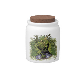 Forest Foliage Dragon~Spell Ingredients Jar Candy Dishes