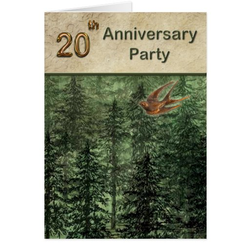 Forest for the Trees Anniversary Party 20 Cards