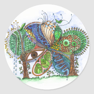 Forest for the Trees Classic Round Sticker