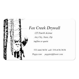 Forest Fox Creek Drywall Custom Business Card