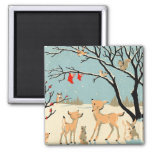 Forest Friends 2 Inch Square Magnet