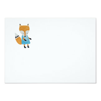 Forest Friends Adorable little Woodland Fox 5x7 Paper Invitation Card