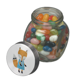 Forest Friends Adorable little Woodland Fox Jelly Belly Candy Jar