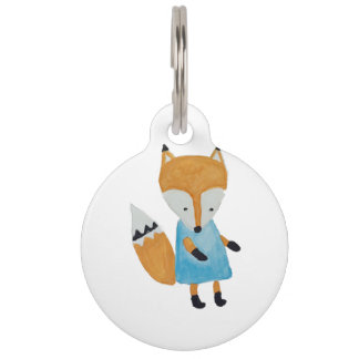 Forest Friends Adorable little Woodland Fox Pet Tag