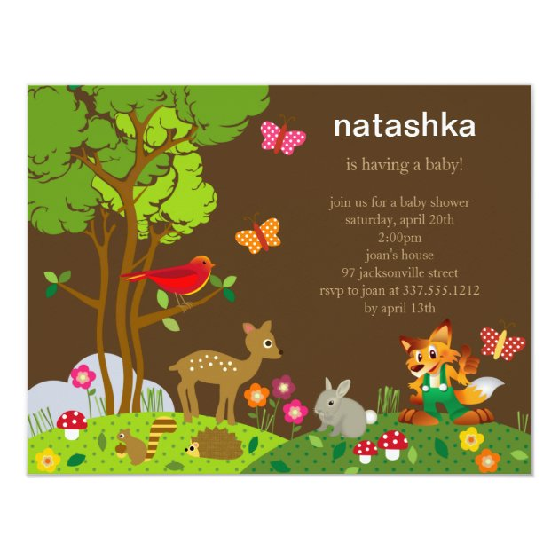 Forest Friends Baby Shower Invitation Zazzle Com