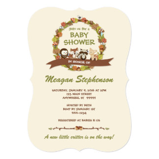 forest friends baby shower invitations announcements zazzle