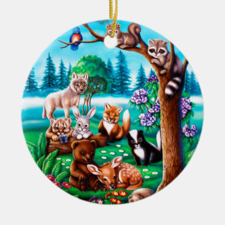 Forest Friends Ceramic Ornament