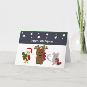 Forest Friends Christmas card