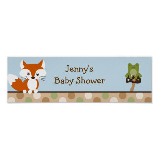 Forest Friends Forest Animal  Banner Sign
