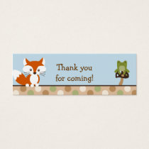 Forest Friends Forest Animal Favor Gift Tags