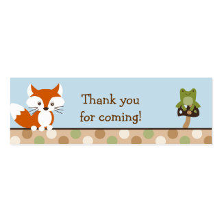 Forest Friends Forest Animal Favor Gift Tags Business Card Template