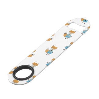Forest Friends Fox All-Over Repeat Pattern Bar Key