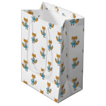 Forest Friends Fox All-Over Repeat Pattern Medium Gift Bag
