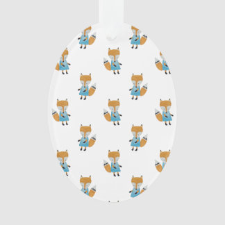 Forest Friends Fox All-Over Repeat Pattern Ornament